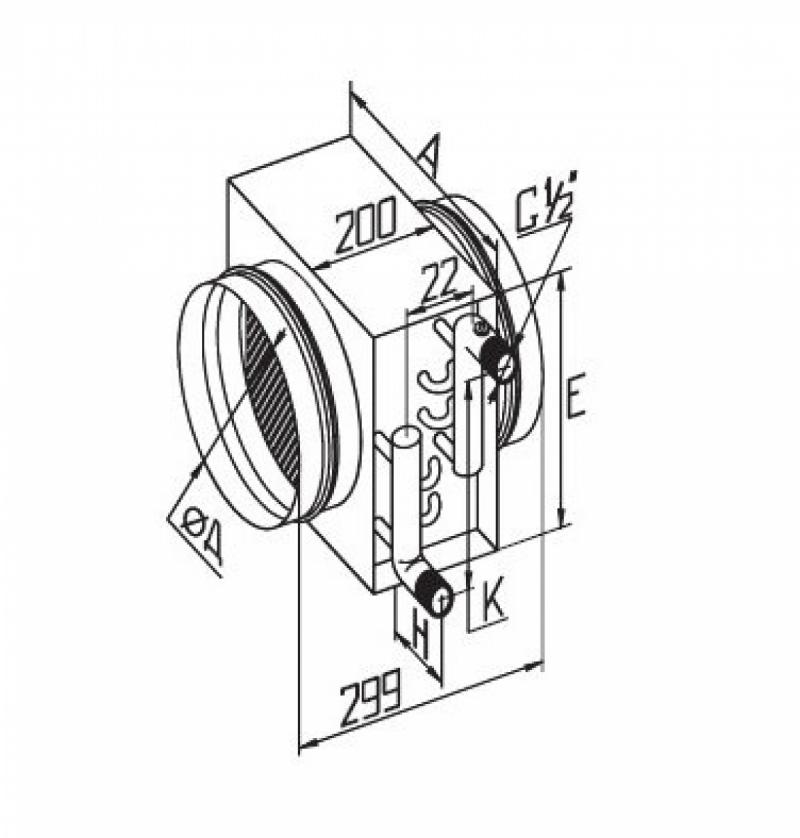 Водяной воздухонагреватель Korf WWK 315/2